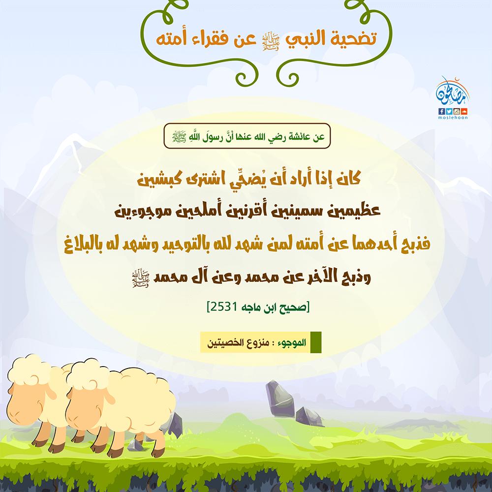 تضحية النبي ﷺ عن أُمته ونفسه وآله